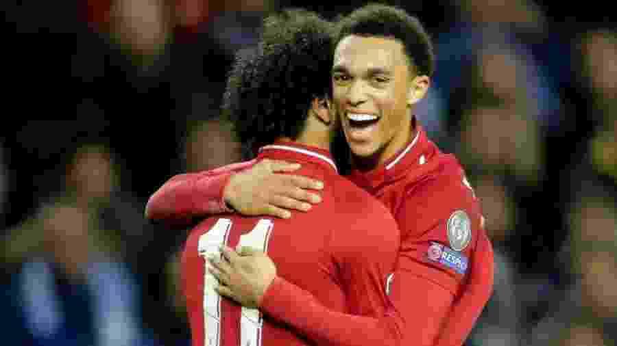 Alexander-Arnold contou sobre suas ambições e de sua vontade de ser capitão do Liverpool no futuro. - Miguel Vidal/Reuters