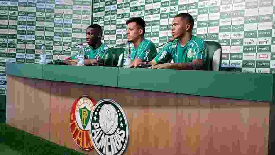 Patrick de Paula, Gabriel Menino e Lucas Esteves se apresentaram ao Palmeiras - Danilo Lavieri/UOL Esporte