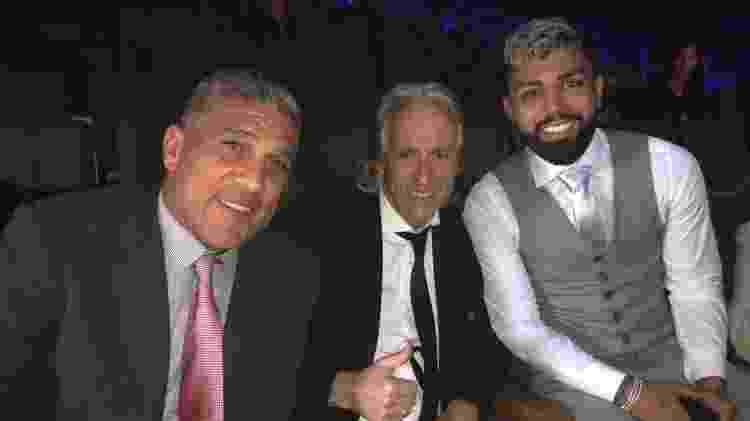 Silas, Jorge Jesus e Gabigol no Bola de Prata da ESPN - Arquivo pessoal/Silas