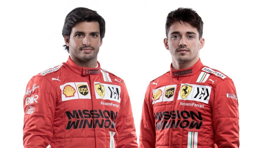 Ferrari apresentou oficialmente sua nova dupla, Sainz e Leclerc - Ferrari/Divulgação