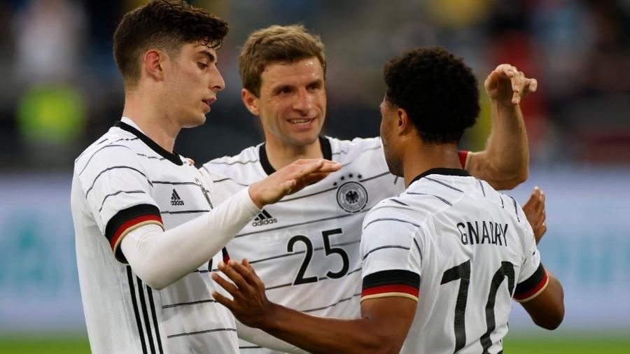 Alemanha vence a Letônia em último amistoso antes da Eurocopa - Odd ANDERSEN / AFP