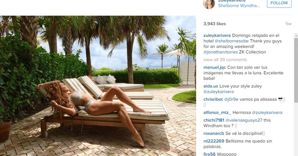 Zuleyka Rivera, ex mulher de Barea. Miss Universo foi casada com o atleta entre 2010 e 2103