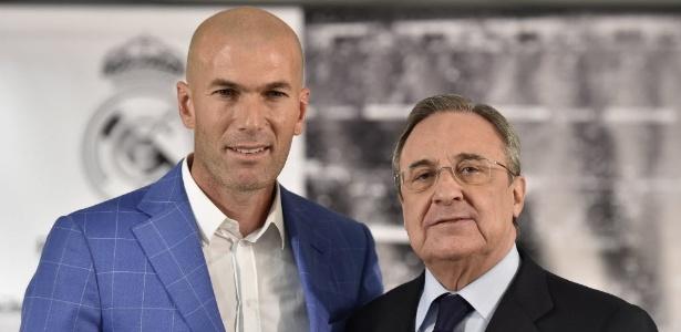 Zidane é muito admirado pelo presidente Florentino Pérez - AFP PHOTO/ GERARD JULIEN