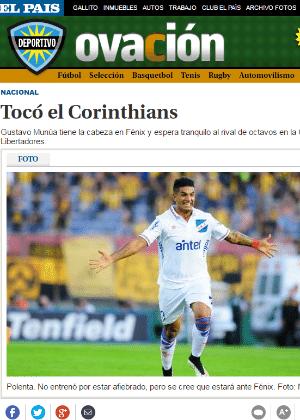 Força do Corinthians foi respeitada por uruguaios - Reprodução
