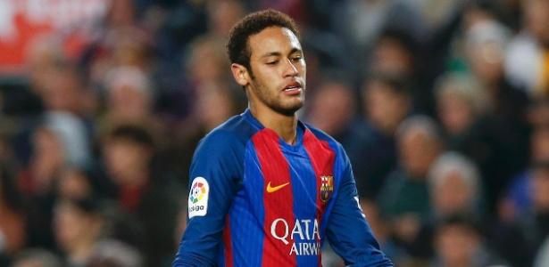 O atacante Neymar em jogo do Barcelona contra o Leganes - Albert Gea/Reuters
