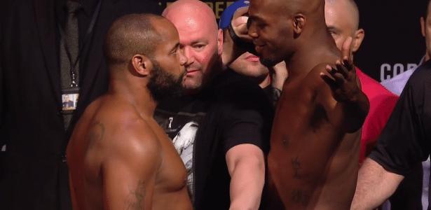 Daniel Cormier e Jon Jones fazem encarada tranquila antes do UFC 214