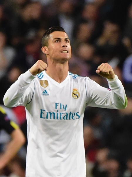 Cristiano Ronaldo comemora gol do Real Madrid contra o Tottenham - Pierre-Philippe Marcou/AFP