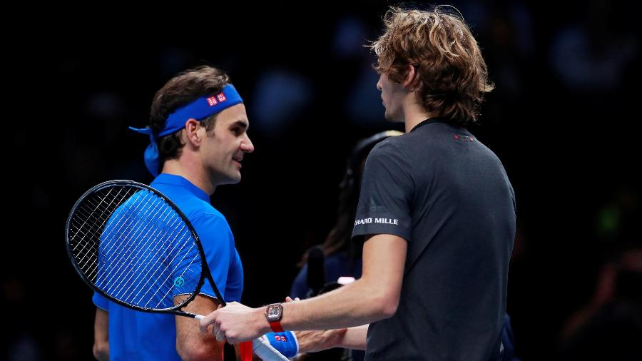 Para Federer, Zverev não merecia as vaias do público durante a semi do ATP Finals - Andrew Couldridge/Reuters