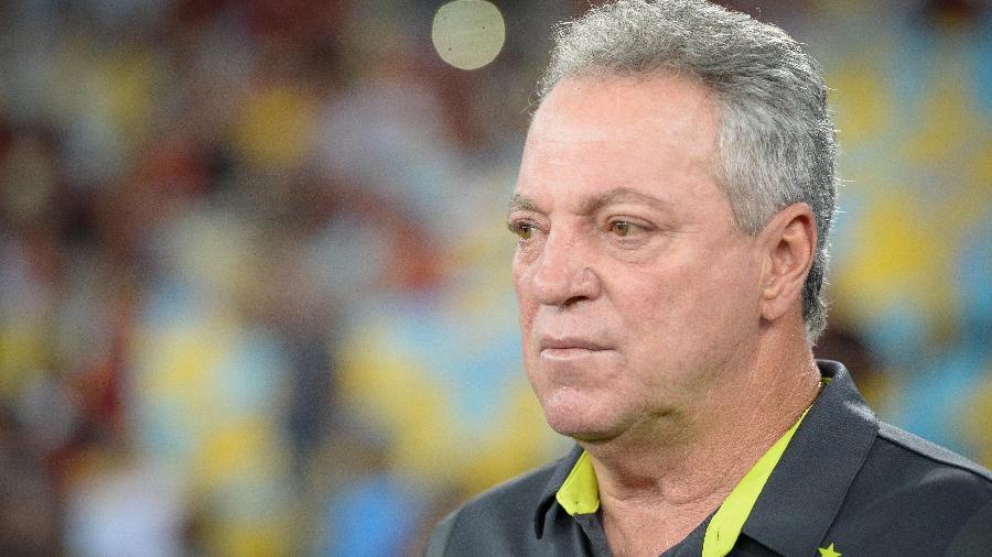Abel Braga, então técnico do Flamengo, em jogo contra o Madureira no Maracanã - Alexandre Vidal/Flamengo