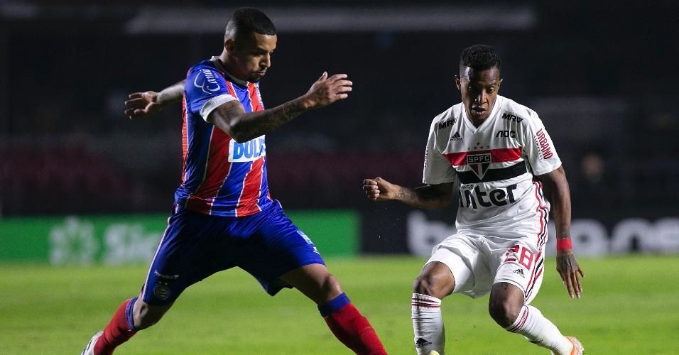 Gregore, durante partida entre Bahia e São Paulo