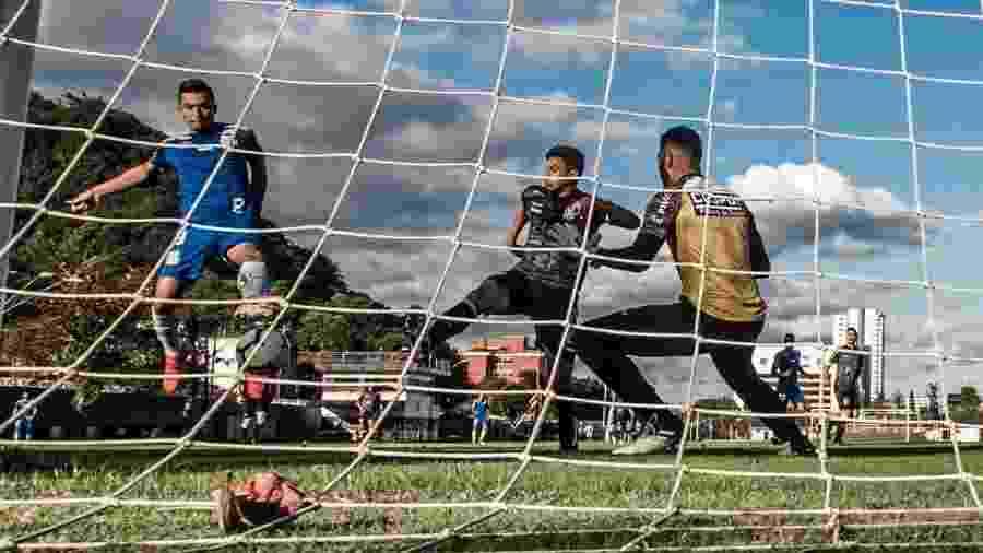 Uribe marcou seu primeiro gol com a camisa do Santos em jogo-treino - Ivan Storti/Santos FC