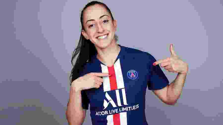 Luana Bertolucci, meio-campista da seleção brasileira feminina e do Paris Saint Germain (PSG) - Alex Caparros - UEFA/UEFA/Getty Images