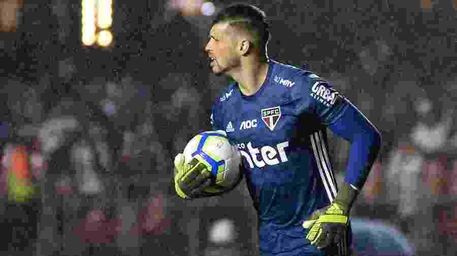Tiago Volpi, goleiro do São Paulo - Bruno Ulivieri/AGIF