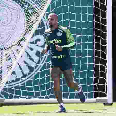 Felipe Melo durante treino do Palmeiras na Academia de Futebol - Cesar Greco