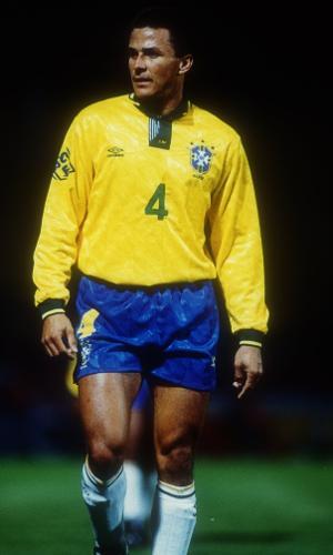 Zagueiro Válber em jogo da seleção brasileira contra o Chile, pela Copa América de 1993