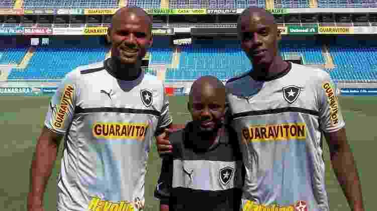 Jefferson, Andrew e Andrey, em 2013, no Botafogo - Divulgação Botafogo - Divulgação Botafogo