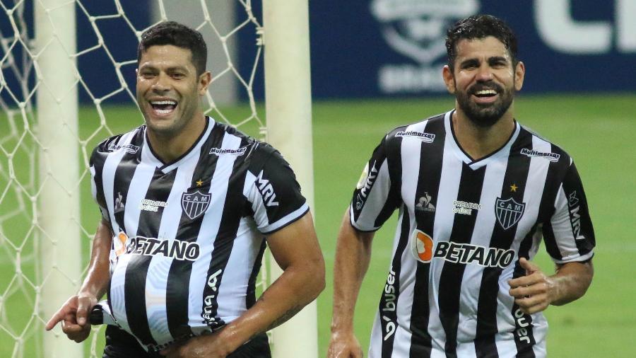 Hulk e Diego Costa marcaram gol na vitória do Atlético-MG sobre o Sport - Fernando Moreno/AGIF