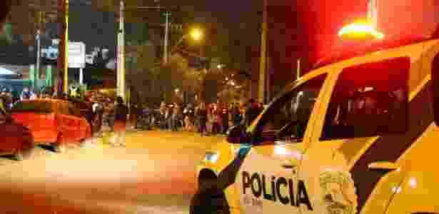 Polícia Militar trabalha durante o clássico entre Coritiba e Atlético-PR, no Couto Pereira - Soldado Guilherme Batalha - Soldado Guilherme Batalha