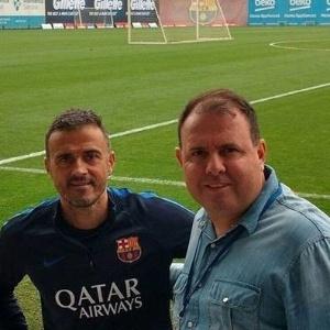 Marcelo Fernandes conheceu o técnico Luis Enrique, do Barcelona