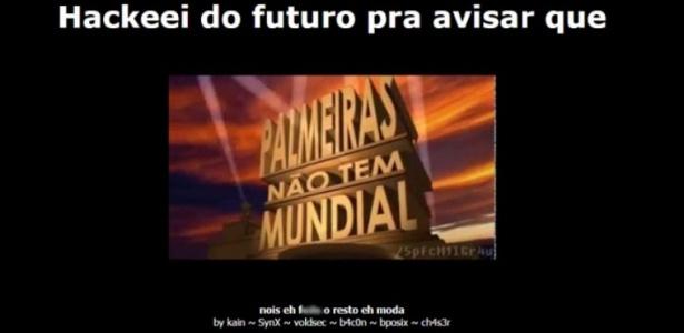Hackers zoam o Palmeiras no site oficial do Santos