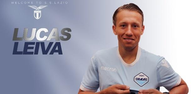 Lucas Leiva foi apresentado pela Lazio