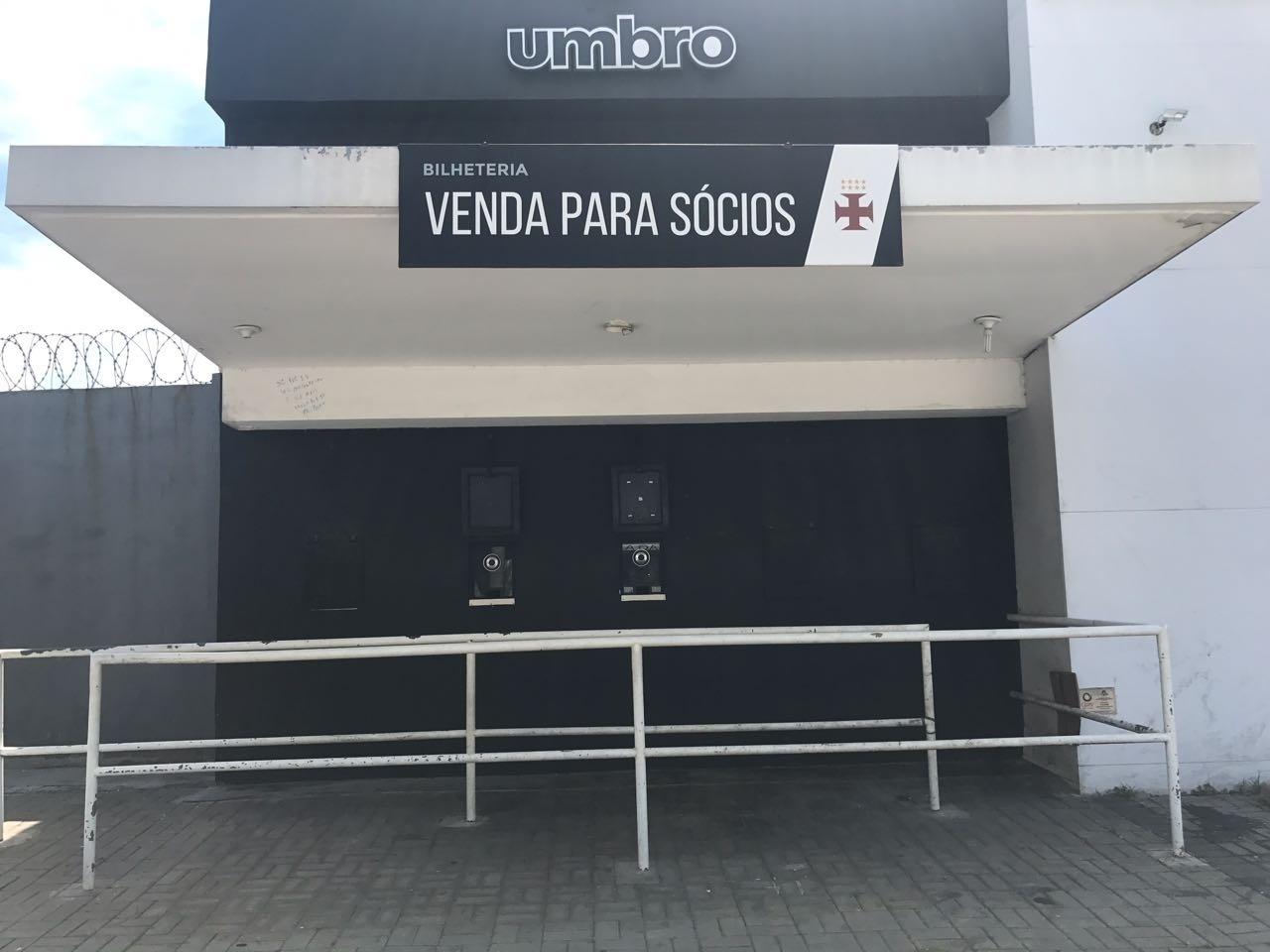 Bilheterias de São Januário não estão comercializando ingressos para Vasco x Bangu