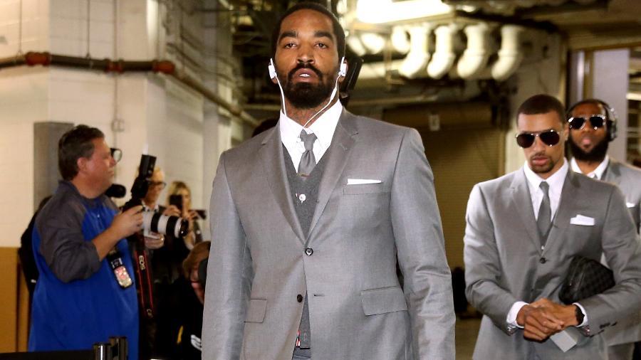 Jogadores dos Cavs chegam ao ginásio dos Pacers antes de partida na última sexta - Nathaniel S. Butler/NBAE via Getty Images