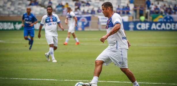 Marcelo Ramos em partida festiva; ex-atacante quer comandar o Cruzeiro no futuro - Cruzeiro/Divulgação