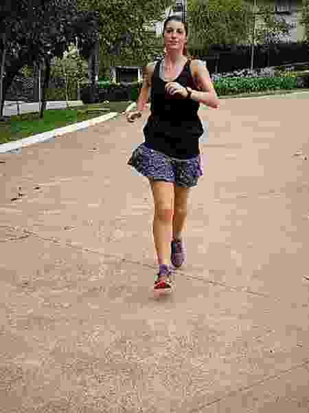 Luiza Oliveira, em treinamento para a São Silvestre - Arquivo pessoal