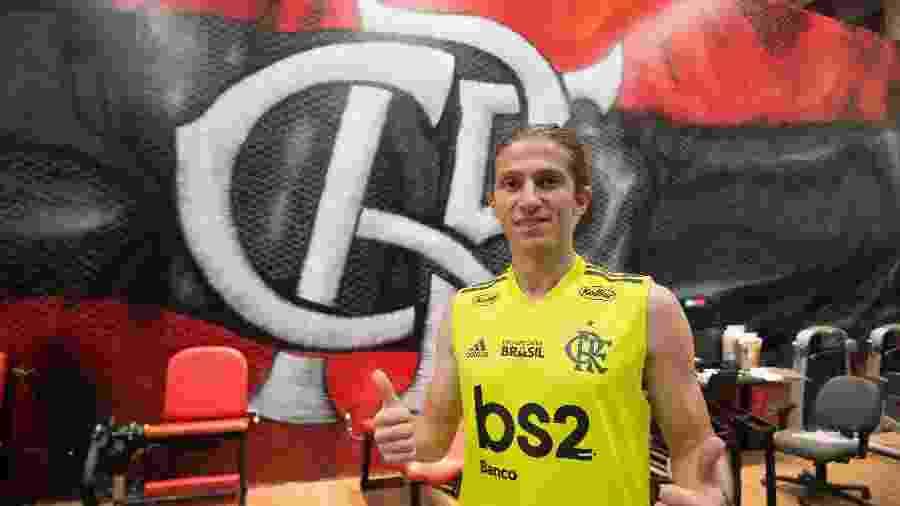 Lateral esquerdo Filipe Luís é um dos jogadores do Flamengo que pode ser convocado - Alexandre Vidal / Site oficial do Flamengo