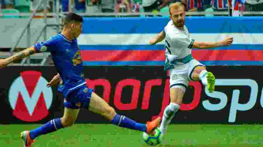 Bahia e Goiás empataram por 1 a 1 no jogo do primeiro turno, na Fonte Nova - Jhony Pinho/AGIF