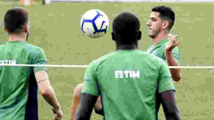 Nino e Frazan em treino do Flu: dupla sofreu 0,5 gol por jogo em 2019 - Mailson Santana/Fluminense FC - Mailson Santana/Fluminense FC
