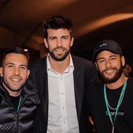 Neymar ao lado de Piqué e Alba para prestigiar a Copa Davis - Reprodução/Instagram