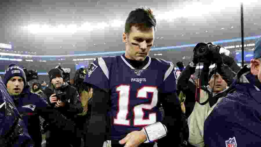 Brady lamenta queda dos Patriots para os Titans na NFL  - Greg M. Cooper-USA TODAY Sports