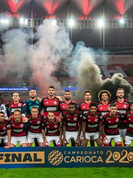 Equipe do Flamengo antes da decisão do Campeonato Carioca - Marcelo Cortes/Flamengo