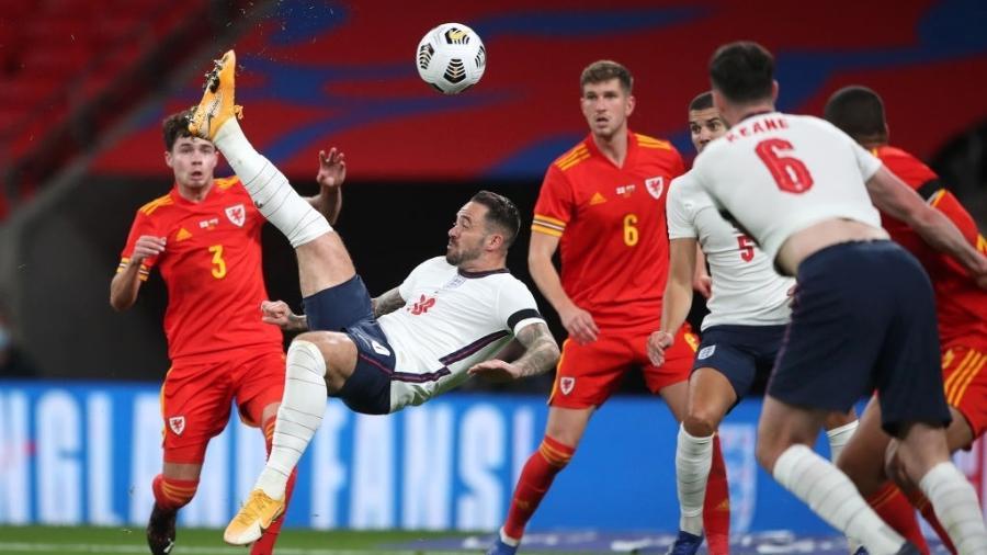 Danny Ings finaliza para marcar em amistoso da Inglaterra contra o País de Gales - Nick Potts - Pool/Getty Images
