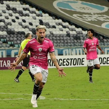 Ortiz comemora primeiro gol contra o Grêmio - Divulgação / Independiente Del Valle