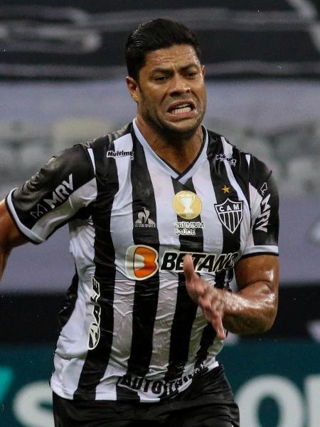 O atacante do Atlético-MG Hulk durante partida contra o América-MG - Fernando Moreno/AGIF
