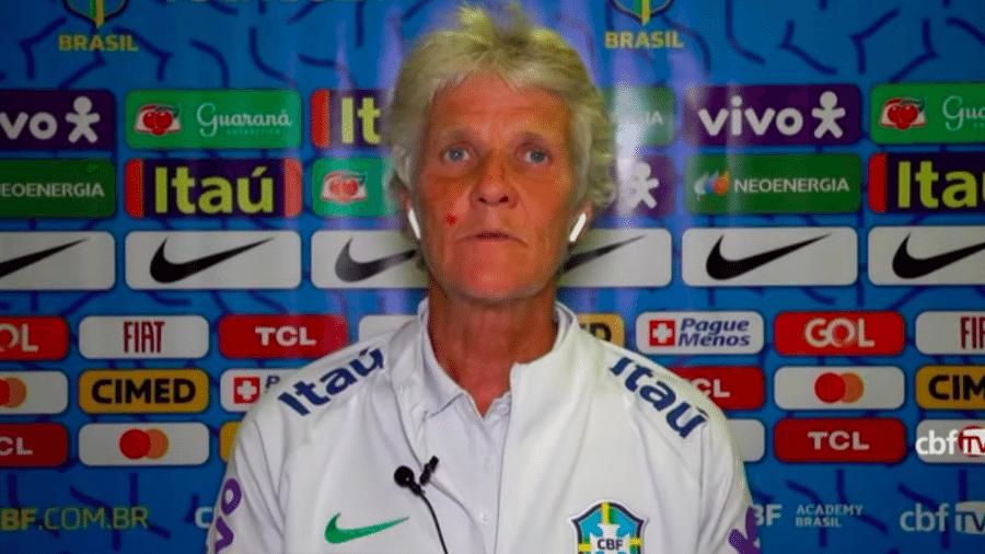 Pia Sundhage, treinadora da seleção brasileira feminina de futebol - Transmissão CBF