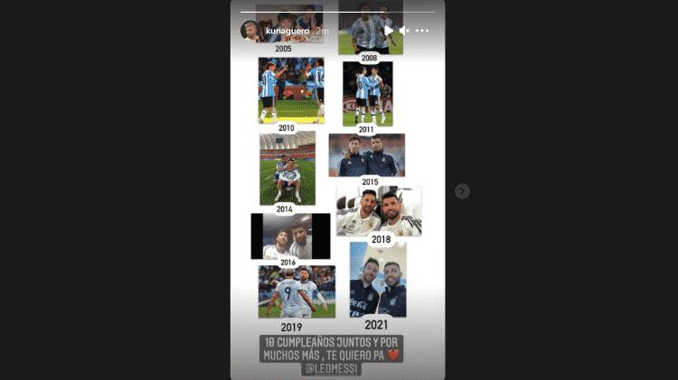 Messi Aguero - Reprodução/Instagram - Reprodução/Instagram