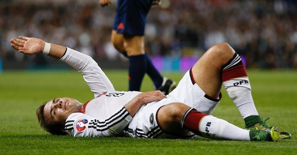 Gotze se lesiona em jogo pela Alemanha, nas Eliminatórias para a Euro-2016