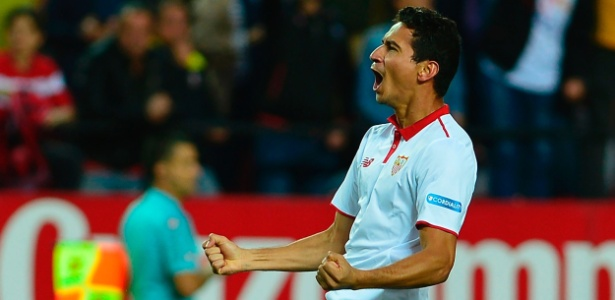 Paulo Henrique Ganso comemora gol pelo Sevilla