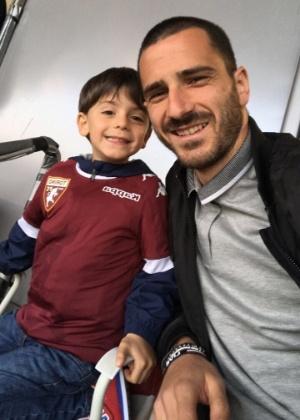 Bonucci e o filho Lorenzo