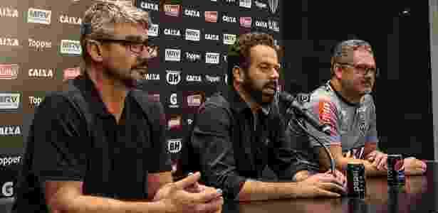 Pressionado pela torcida, André Figueiredo (esquerda) não é mais superintendente de futebol do Atlético-MG - Bruno Cantini/Clube Atlético Mineiro