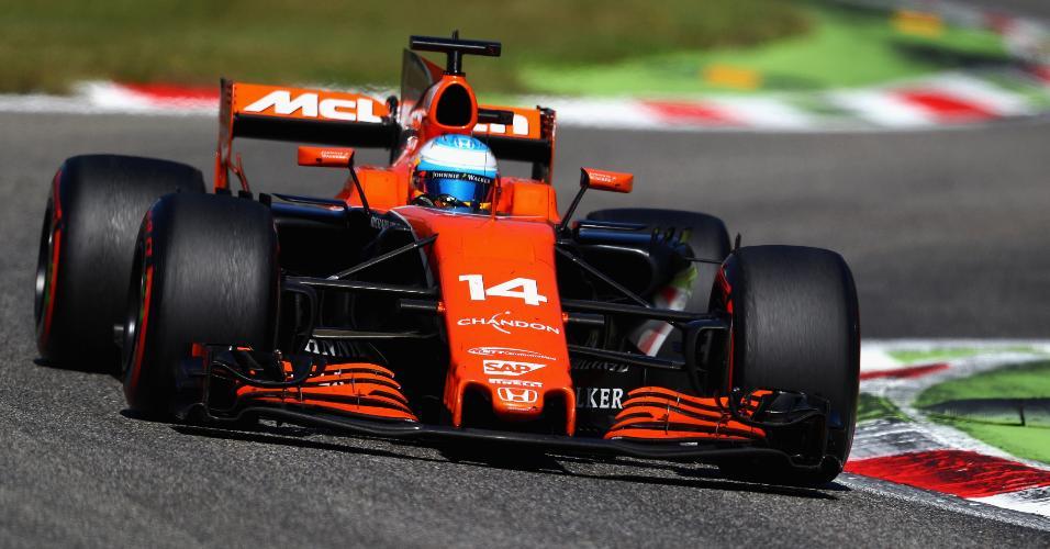 Fernando Alonso no GP de Monza