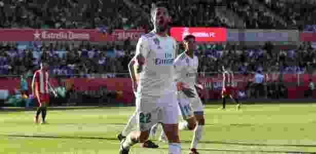 Isco comemora gol para o Real Madrid contra o Girona - Albert Gea/Reuters - Albert Gea/Reuters