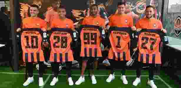Jogadores brasileiros são apresentados pelo Shakhtar Donetsk - Divulgação/Shakhtar Donetsk - Divulgação/Shakhtar Donetsk