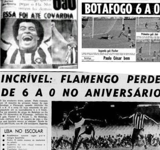 Botafogo relembra goleada em aniversário do Flamengo