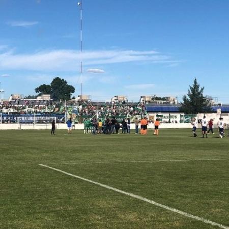 Granada é encontrada em estádio horas antes de partida pela 4ª divisão argentina - Reprodução/Aprevide