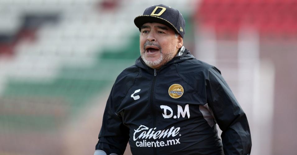 O Dorados de Sinaloa, equipe que Maradona dirige, briga por uma vaga nas finais da segunda divisão mexicana